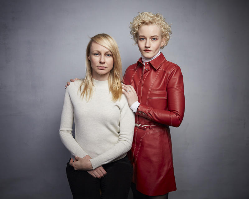 "Writer/director Kitty Green, left, and Julia Garner pose for a portrait to promote the film ""The Assistant"" at the Music Lodge during the Sundance Film Festival on Sunday, Jan. 26, 2020, in Park City, Utah. (Photo by Taylor Jewell/Invision/AP)"
