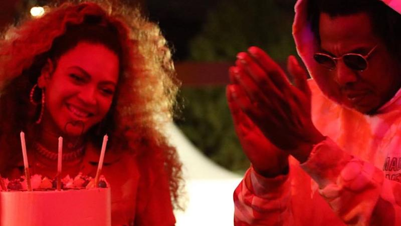 Wondrous Beyonce Is Living Her Best Life Celebrating 38Th Birthday With Jay Personalised Birthday Cards Cominlily Jamesorg