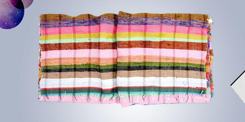 "There's no such thing as owning too many blankets, and this supersized one does triple duty as bedding, picnic blanket, and floor covering. SHOP NOW: Colorstripe Floor Blanket, 46""w x 81""l, $68, leifshop.com"