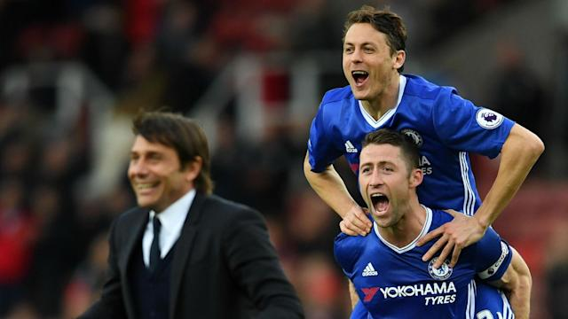 The Blues beat Stoke to open up a 13-point lead at the Premier League summit on Saturday, and the coach wants seven wins before the season ends