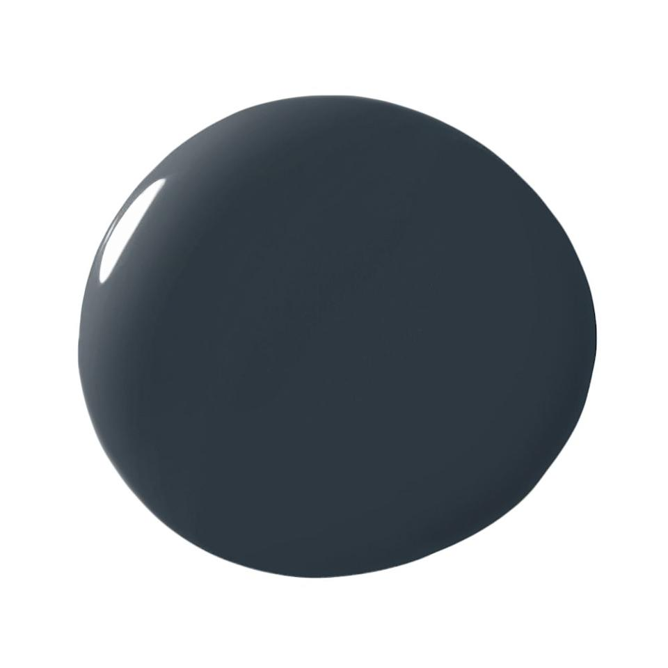 """<p>""""I use this shade of blue whenever I want to add drama to a space.  It is the perfect balance of modern masculinity and classic design. Matte or high gloss finish, you can't go wrong!"""" -<a rel=""""nofollow"""" href=""""https://www.tailorednestdesign.com/about.html""""><strong>Amanda Sacy</strong></a></p>"""