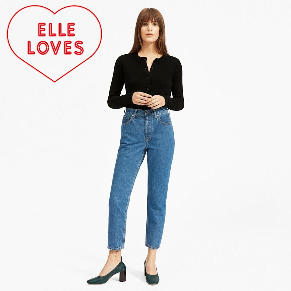 """<p><strong>everlane</strong></p><p>everlane.com</p><p><strong>$78.00</strong></p><p><a href=""""https://go.redirectingat.com?id=74968X1596630&url=https%3A%2F%2Fwww.everlane.com%2Fproducts%2Fwomens-90s-cheeky-straight-jean-northridge&sref=https%3A%2F%2Fwww.elle.com%2Ffashion%2Fshopping%2Fg33078428%2Fbest-elle-editor-product-reviews%2F"""" rel=""""nofollow noopener"""" target=""""_blank"""" data-ylk=""""slk:Shop Now"""" class=""""link rapid-noclick-resp"""">Shop Now</a></p><p>""""Dubbed the '90s Jean, <a href=""""https://www.elle.com/fashion/shopping/a26541231/everlane-90s-mom-jeans-review/"""" rel=""""nofollow noopener"""" target=""""_blank"""" data-ylk=""""slk:Everlane's new silhouette"""" class=""""link rapid-noclick-resp"""">Everlane's new silhouette</a> are the kind of pants worn by someone who works at a start-up, but also runs a successful side-hustle selling pottery on Etsy; a fashion editor who enthusiastically <a href=""""https://www.elle.com/fashion/shopping/a18658892/everlane-kick-crop-denim/"""" rel=""""nofollow noopener"""" target=""""_blank"""" data-ylk=""""slk:drinks"""" class=""""link rapid-noclick-resp"""">drinks</a> the <a href=""""https://www.elle.com/fashion/shopping/a24791639/everlane-jeans-are-on-sale-2018/"""" rel=""""nofollow noopener"""" target=""""_blank"""" data-ylk=""""slk:Everlane"""" class=""""link rapid-noclick-resp"""">Everlane</a> <a href=""""https://www.elle.com/fashion/shopping/a22718700/everlane-the-form-bag-review/"""" rel=""""nofollow noopener"""" target=""""_blank"""" data-ylk=""""slk:Kool-Aid"""" class=""""link rapid-noclick-resp"""">Kool-Aid</a>; an influencer who wears oversized blazers pushed up above their elbows, revealing multiple stick and poke tattoos. They are the French Girl Bangs of denim. Loving the mom jeans isn't ironic, it's a lifestyle."""" — <em>Justine Carreon, market editor</em></p>"""