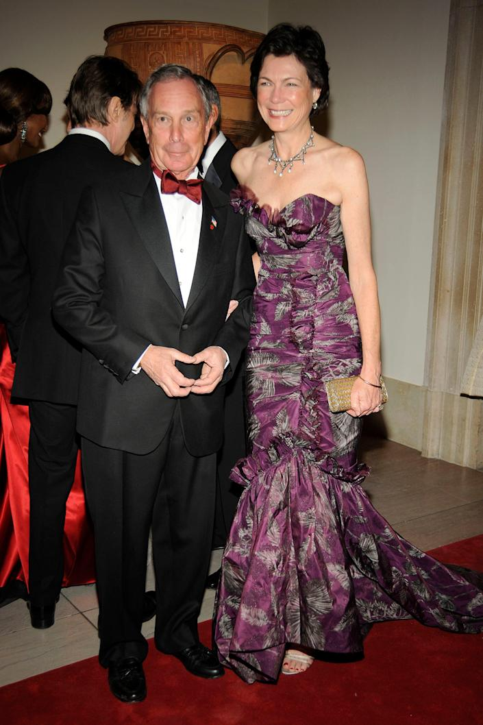 Mayor Michael Bloomberg and Diana Taylor at the 2008 Met Gala