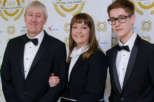 Archie Lyndhurst with parents Nicholas Lyndhurst and Lucy Smith