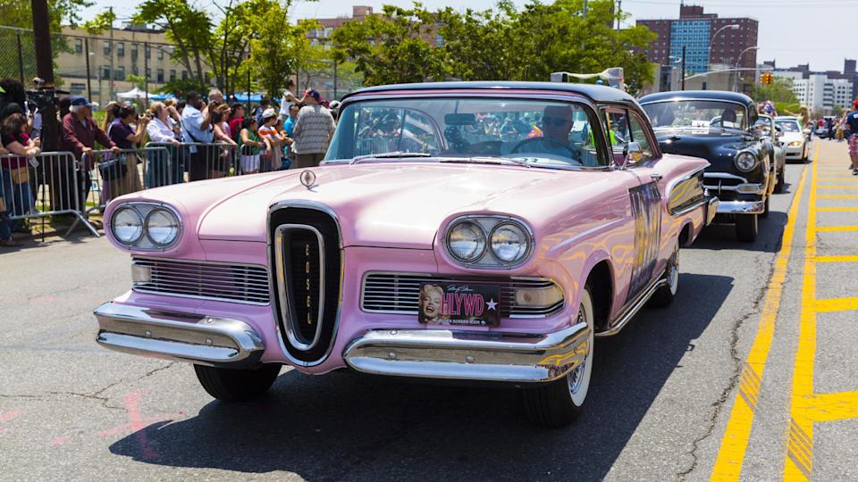 NEW YORK - JUNE 22: Antique Edsel Ford 1958 displayed at the 2013 Mermaid Parade at Coney Island on June 22, 2013 in Brooklyn, New York - Image.