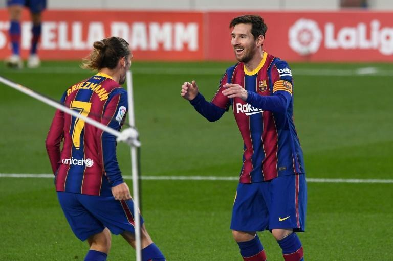 Lionel Messi came off the bench to score his first goal from open play this season as Barcelona beat Betis 5-2