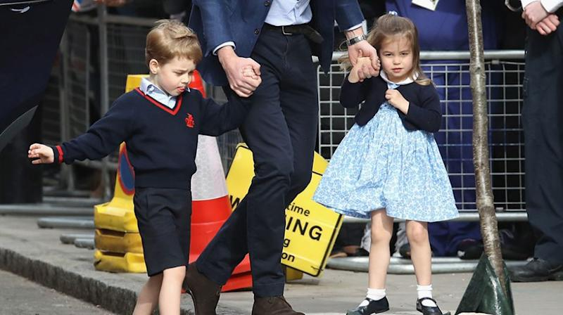 All dressed up to meet their baby brother. Source: Getty