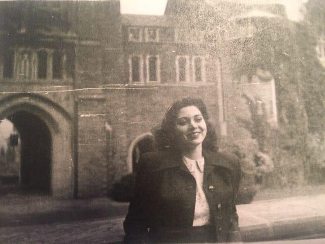 Audrey Marans Sternberg on Cornell University's campus in Ithaca, New York, in October 1948.