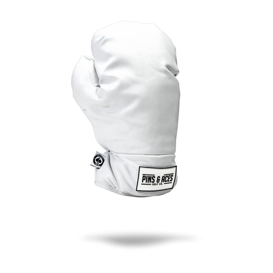 """<p>pinsandaces.com</p><p><strong>$49.95</strong></p><p><a href=""""https://pinsandaces.com/collections/driver-covers/products/boxing-glove-driver-cover"""" rel=""""nofollow noopener"""" target=""""_blank"""" data-ylk=""""slk:BUY IT HERE"""" class=""""link rapid-noclick-resp"""">BUY IT HERE</a></p><p>This gift packs a punch. Go for this statement cover that covers the most powerful club in your bag.</p>"""