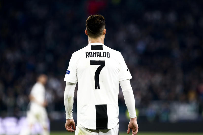 ALLIANZ STADIUM, TORINO, ITALY - 2019/04/16: Cristiano Ronaldo of Juventus FC during the UEFA Champions League quarter final second leg football match between Juventus Fc and Afc Ajax . Afc Ajax wins 2-1 over Juventus Fc. (Photo by Marco Canoniero/LightRocket via Getty Images)
