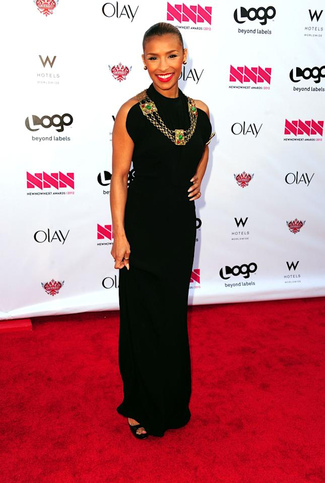 Melody Thornton arrives at LOGO's NewNowNext Awards at Avalon on April 5, 2012 in Hollywood, California.