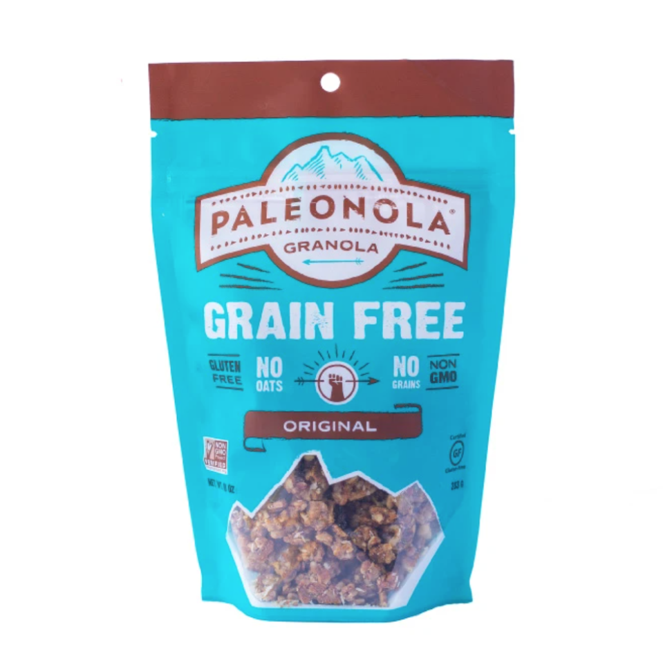 """<p><strong>Paleonola</strong></p><p>amazon.com</p><p><a href=""""https://www.amazon.com/dp/B01APWH60O?tag=syn-yahoo-20&ascsubtag=%5Bartid%7C10055.g.34163028%5Bsrc%7Cyahoo-us"""" rel=""""nofollow noopener"""" target=""""_blank"""" data-ylk=""""slk:Shop Now"""" class=""""link rapid-noclick-resp"""">Shop Now</a></p><p><strong>This low-carb granola option from Paleonola features their signature nut and seed blend </strong>including almonds, pecans, pepitas, walnuts, sunflower seeds, and more. We love the wholesome ingredients list, low added sugar counts, and 4 grams of protein per 1/4 cup serving.</p><p><strong>Nutrition Facts (1/4 cup): </strong>170 cal, 15g total fat, 3.5g sat fat, 0g trans fat, 0mg cholesterol, 10mg sodium, 7g total carbohydrate, 2g dietary fiber, 4g total sugars, 4g added sugars, 4g protein</p>"""