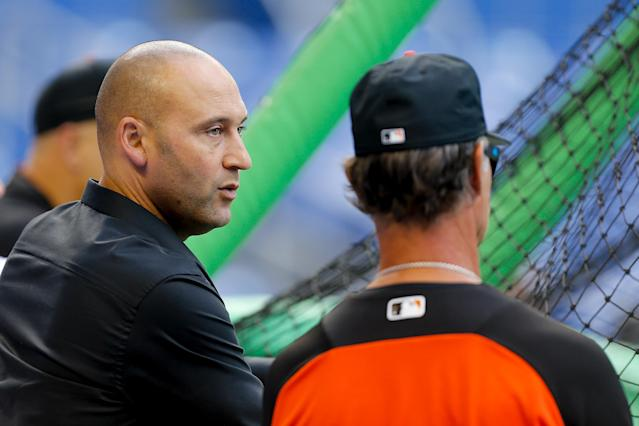 Mike Oz went to Yankee Stadium for the Yankees and Marlins series to talk to fans about their feelings over Yankee legend turned Marlins CEO Derek Jeter skipping his first chance at a return.