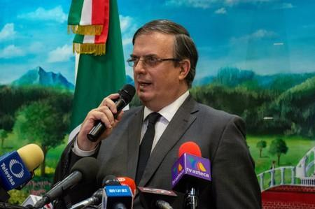 FILE PHOTO: Mexico's Foreign Minister Marcelo Ebrard speaks at the Mexican consulate, two days after a mass shooting in El Paso