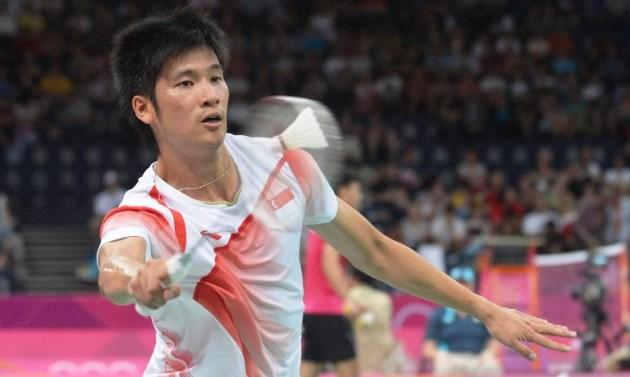 Singapore's Wong Derek plays a shot against Isreael's Misha Zilberman during the men's singles badminton match during the London 2012 Olympic Games. Wong won the match 21-9, 21-15. (AFP PHOTO / ADEK BERRY)