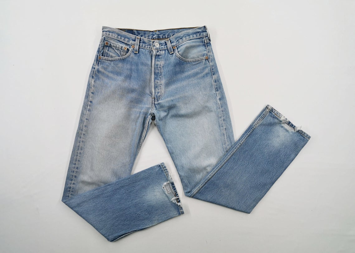 """<br><br><strong>Levi's</strong> 501xx Jeans Vintage Distressed Size 34, $, available at <a href=""""https://go.skimresources.com/?id=30283X879131&url=https%3A%2F%2Fwww.etsy.com%2Flisting%2F860872658%2Flevis-501xx-jeans-vintage-distressed%3Fga_order%3Dmost_relevant%26ga_search_type%3Dall%26ga_view_type%3Dgallery%26ga_search_query%3Dvintage%2Blevis%2B501%26ref%3Dsr_gallery-1-25%26organic_search_click%3D1%26pro%3D1%26frs%3D1"""" rel=""""nofollow noopener"""" target=""""_blank"""" data-ylk=""""slk:Etsy"""" class=""""link rapid-noclick-resp"""">Etsy</a>"""