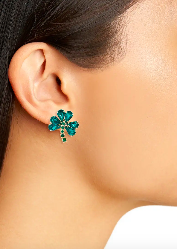 Shamrock Crystal Earrings. Image via Nordstrom.