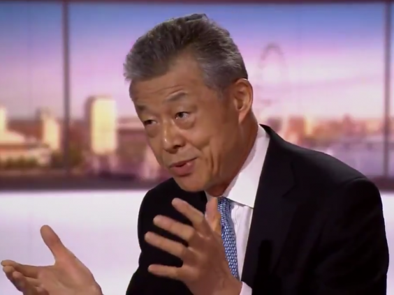China's ambassador to the UK, Liu Xiaoming, appears on 'The Andrew Marr Show' on 19 July 2020 (BBC)