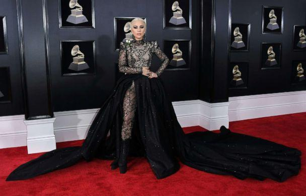 PHOTO: Lady Gaga arrives for the 60th Grammy Awards on January 28, 2018, in New York. (ANGELA WEISS/AFP/Getty Images)