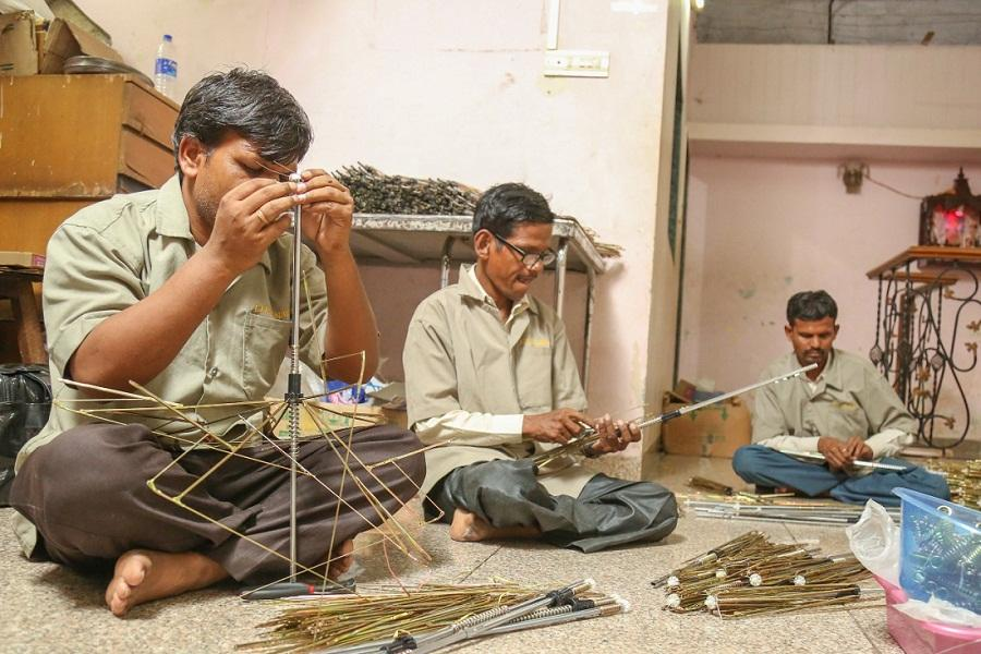 Since 2018, a small manufacturing unit in Tagore Nagar, Vikhroli, a suburb of Mumbai has been rolling out colourful umbrellas in all sizes all made by blind and differently abled men and women as part of the National Association of Disabled's Enterprises (NADE)