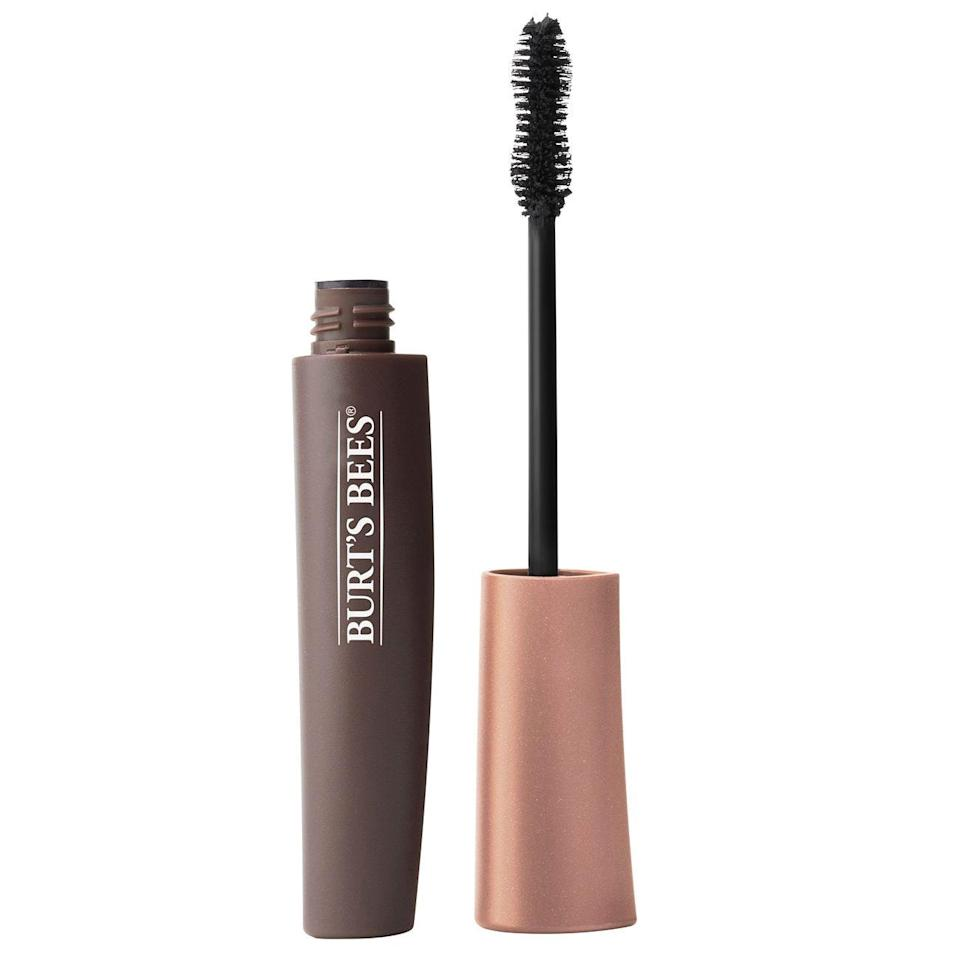 """<p>When natural ingredients are a priority, Burt's Bees comes through, even with mascara. The brand says All Aflutter Multi-Benefit Mascara's ingredients are 100 percent of natural origin, including jojoba oil to let the lengthening, volumizing formula glide right on.</p> <p><strong>$13</strong> (<a href=""""https://shop-links.co/1705588243377760261"""" rel=""""nofollow noopener"""" target=""""_blank"""" data-ylk=""""slk:Shop Now"""" class=""""link rapid-noclick-resp"""">Shop Now</a>)</p>"""