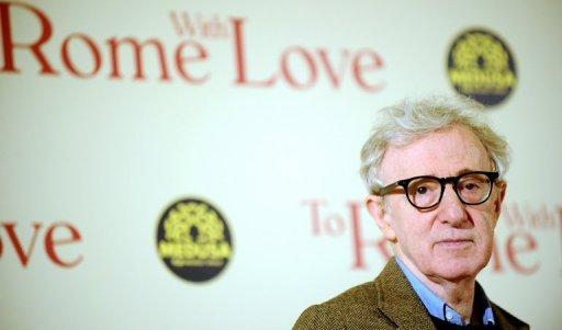 "US film director Woody Allen arrives at the premiere of his last film ""To Rome With Love"" in Rome on April 13"