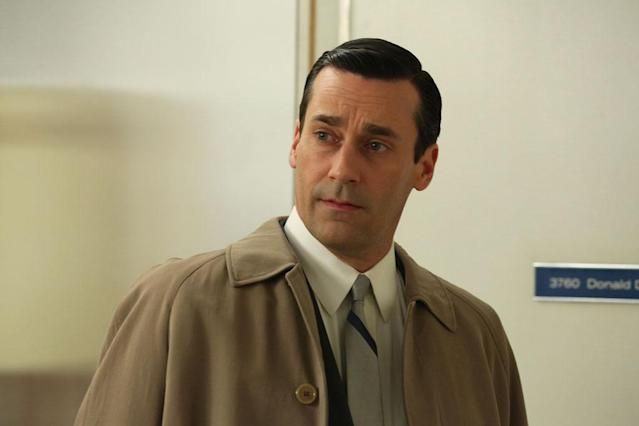 "Don Draper (Jon Hamm) in the ""Mad Men"" episode, ""For Immediate Release."""