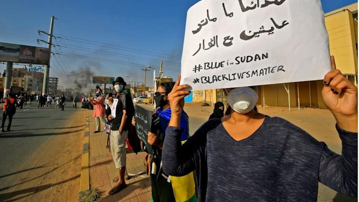 There have been some small anti-racism protests in Sudan