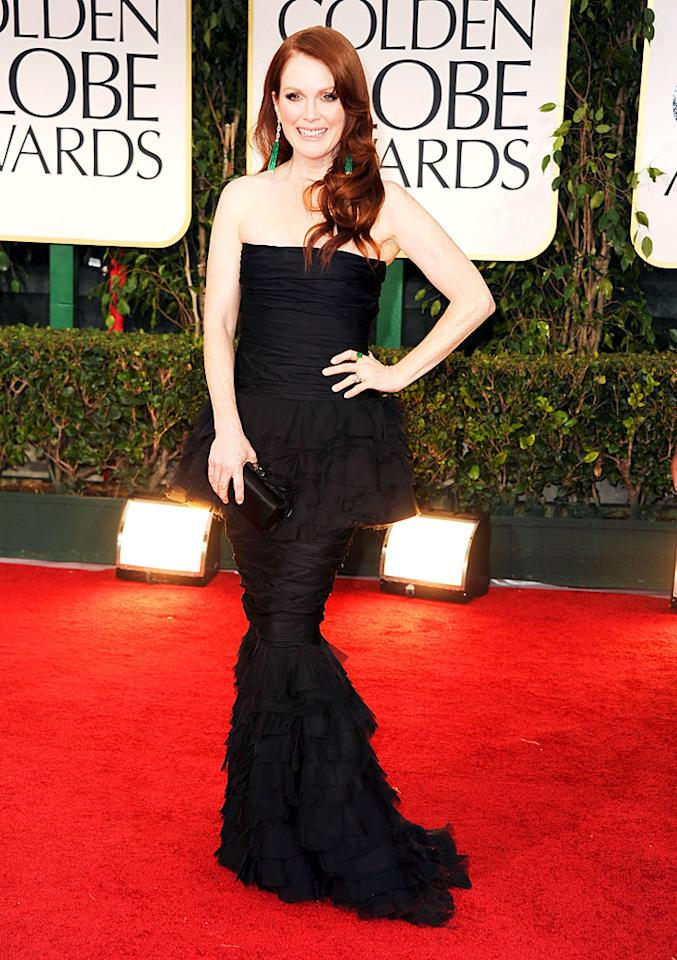 Julianne Moore arrives at the 69th Annual Golden Globe Awards in Beverly Hills, California, on January 15