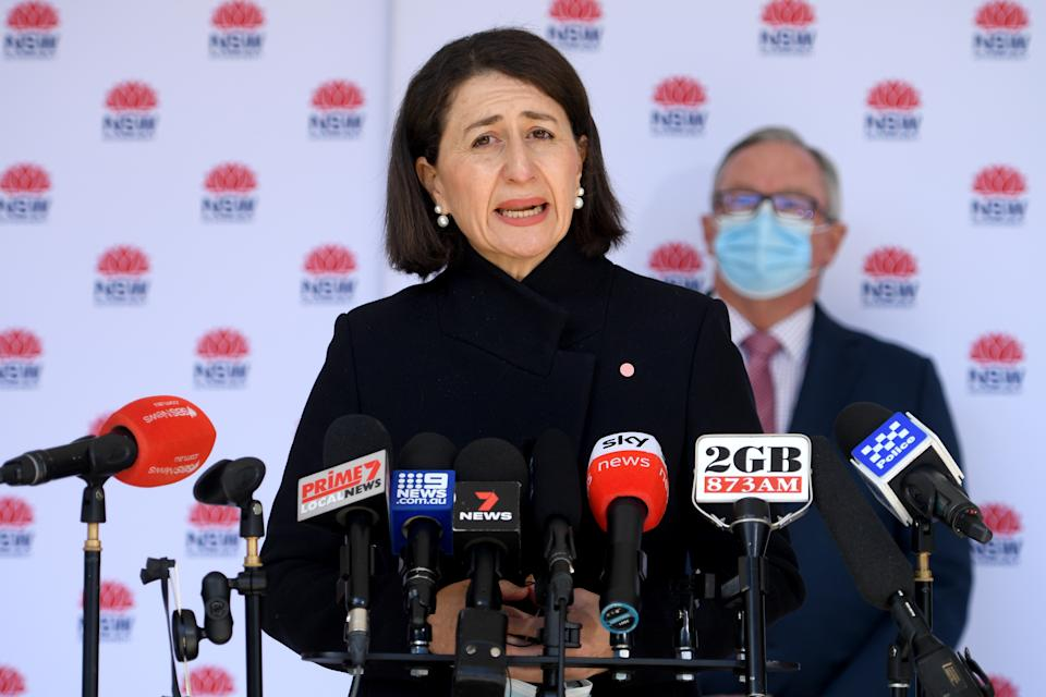 NSW Premier Gladys Berejiklian said she did not intend on singling out south-west Sydney amid the latest Covid-19 outbreak in NSW. Source: AAP