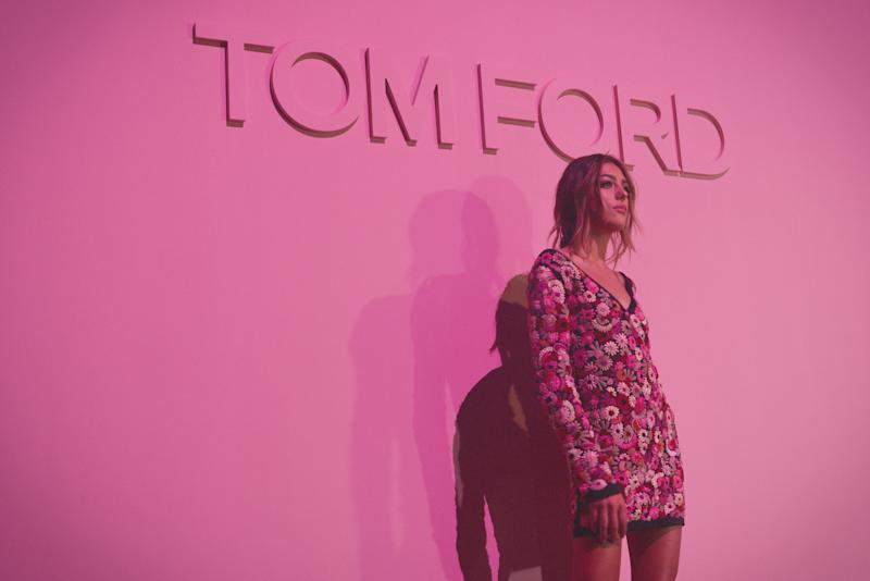 Sistine Stallone attends the Tom Ford Spring 2018 runway show as part of New York Fashion Week.