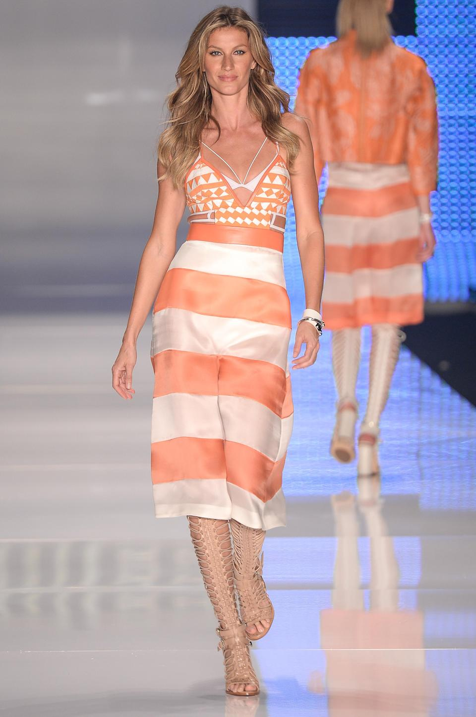 <p>For the first time in 15 years, Brazilian face Gisele has been knocked from the number one spot. The 37-year-old may have retired from the catwalk last year but her campaigns and <i>Vogue</i> shoots still earned her a cool £13.2 million.<br><i>[Photo: Getty]</i> </p>