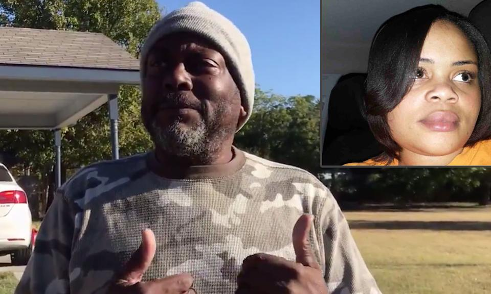 James Smith says he called authorities for a welfare check on his neighbor, Atatiana Jefferson, but within minutes of their arrival he heard gunfire. (Photo: Fort Worth Star-Telegram/ Inset: GoFundMe)