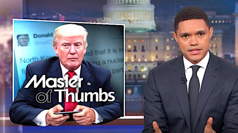 Trevor Noah Breaks Down Why Donald Trump's Tweets May Be A Necessary Evil