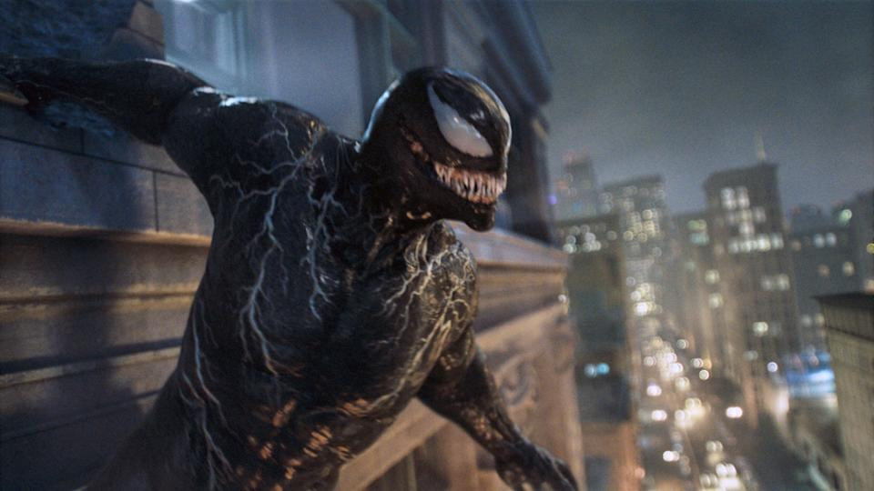 Just like Venom, we're grinning at the thought of Hardy tangling with Spider-Man after the events of Venom: Let There be Carnage (Photo: Sony Pictures Releasing / © Marvel Entertainment / Courtesy Everett Collection)