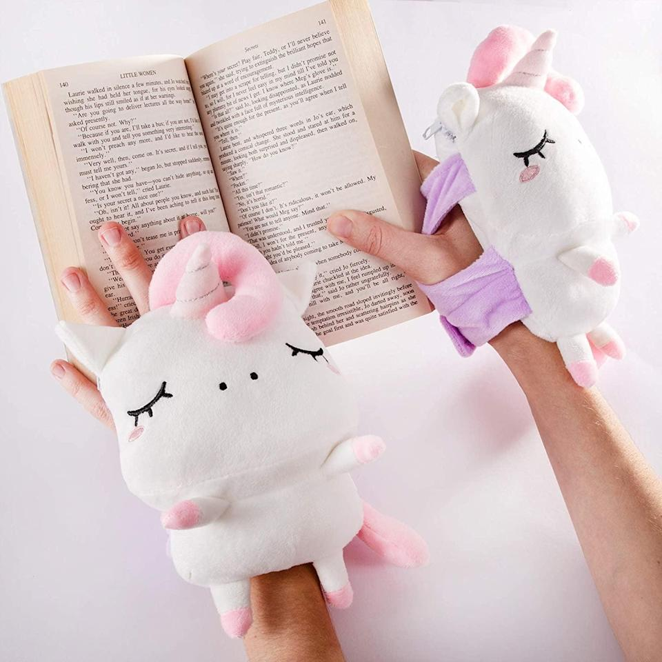 <p>Keep their hands warm while they do their tasks with these fun <span>Smoko Angie Unicorn Hand Warmers</span> ($30). It's wireless, and they can adjust the heat to their ideal setting.</p>