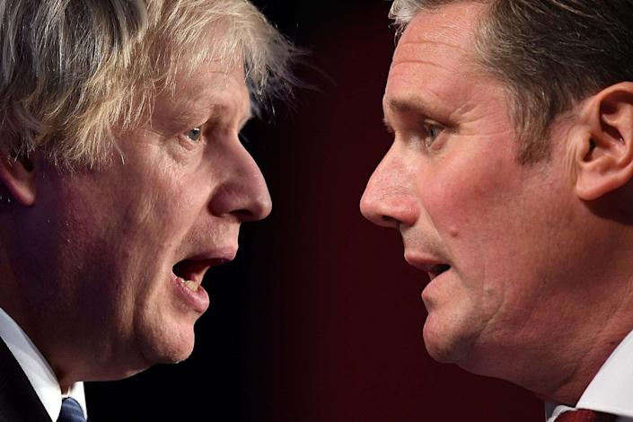 An Observer poll suggests voters now believe that Keir Starmer is outperforming Boris Johnson: Getty Images