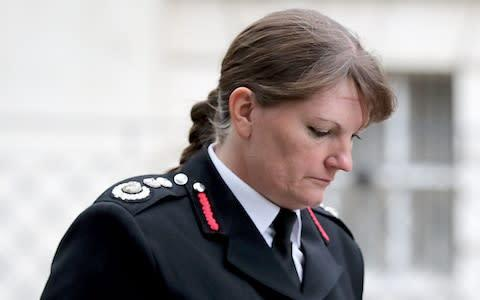 <span>London Fire Brigade Commissioner Dany Cotton Dany Cotton has said she will retire next year after 32 years of service in the capital</span> <span>Credit: Gareth Fuller/PA </span>