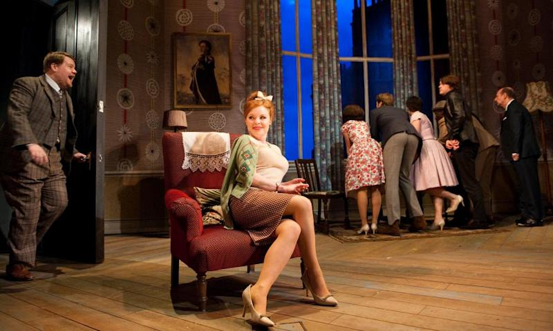 James Corden and Suzie Toase in One Man, Two Guvnors.