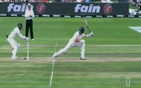 Stumping appeal - Credit: Sky Sports
