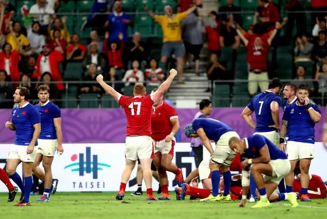 Wales staged a stunning 20-19 fightback victory to win a gripping World Cup quarter-final after France pressed the self-destruct button (David Davies/PA)