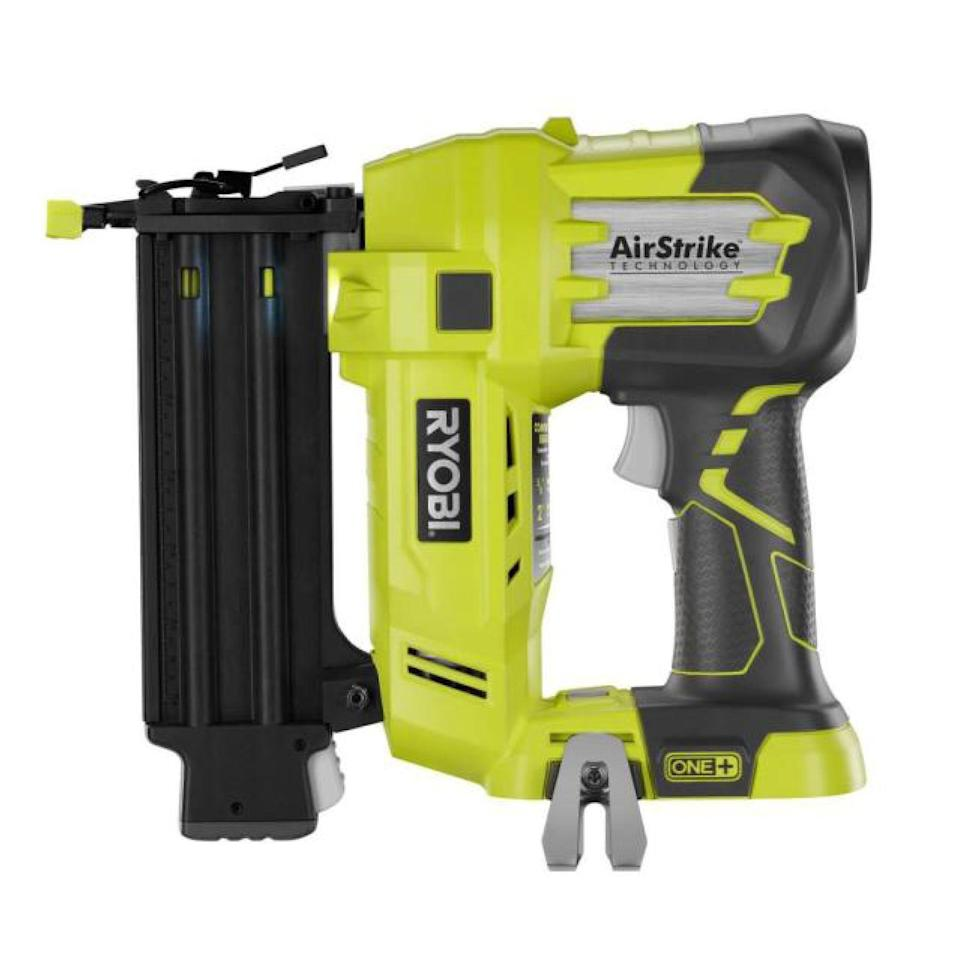 "<p><strong>RYOBI</strong></p><p>homedepot.com</p><p><strong>$99.00</strong></p><p><a href=""https://go.redirectingat.com?id=74968X1596630&url=https%3A%2F%2Fwww.homedepot.com%2Fp%2FRYOBI-18-Volt-ONE-Cordless-AirStrike-18-Gauge-Brad-Nailer-Tool-Only-with-Sample-Nails-P320%2F203810823&sref=https%3A%2F%2Fwww.redbookmag.com%2Flife%2Fg34807098%2Fbest-black-friday-deals-tools%2F"" rel=""nofollow noopener"" target=""_blank"" data-ylk=""slk:Shop Now"" class=""link rapid-noclick-resp"">Shop Now</a></p><p>A nail gun is a super useful addition to any home workspace. It can help to speed up your DIY projects and save your fingers from some accidental hammering injury. This 18-volt, 18-gauge one features fast setup and a cordless, easy-to-handle design. </p>"