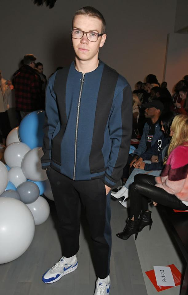 <p>Actor Will Poulter sported athleisure to the What We Wear show at the BFC Show Space on Saturday. <em>[Photo: Getty]</em> </p>