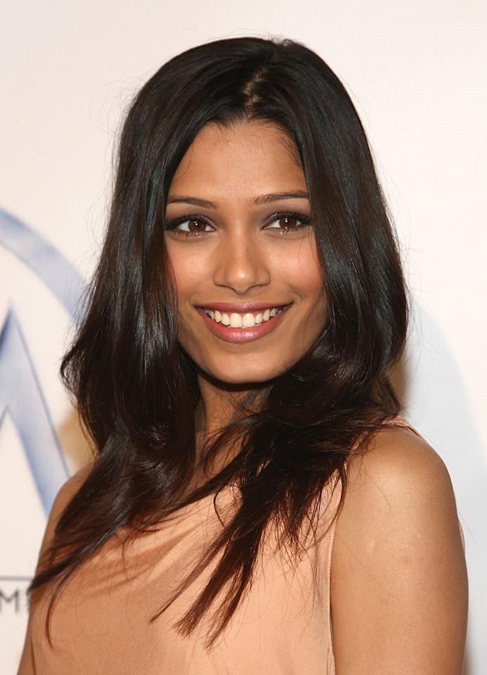 "<a href=""http://movies.yahoo.com/movie/contributor/1810042390"">Freida Pinto</a> at the 20th Annual Producers Guild Awards in Hollywood - 01/24/2009"