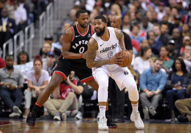 "Markieff Morris is proving his reputation as ""The better Morris twin."" (AP Photo/Nick Wass)"
