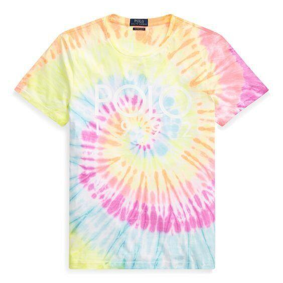 "<strong><a href=""https://www.ralphlauren.com/men-clothing-t-shirts/custom-slim-fit-tie-dyed-tee/480638.html"" target=""_blank"" rel=""noopener noreferrer"">Get the Polo Ralph Lauren custom slim fit tie-dye tee for $69.50.</a></strong>"