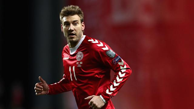 Nicklas Bendtner was not involved as Denmark beat Wales on Sunday evening