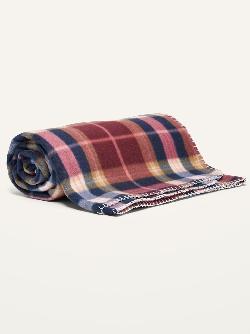 <p>Get ready for cozy movie nights with this <span>Fleece Blanket</span> ($8, originally $10).</p>