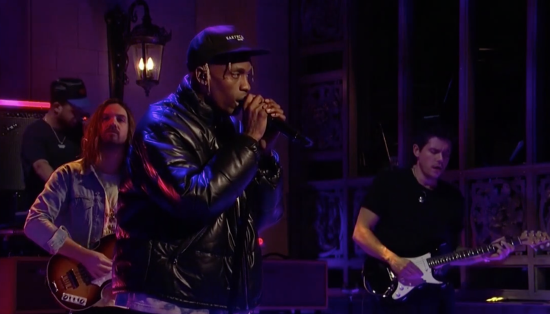 e90fd0553e60 Travis Scott brings ASTROWORLD to SNL with help from Kevin Parker and John  Mayer: Watch