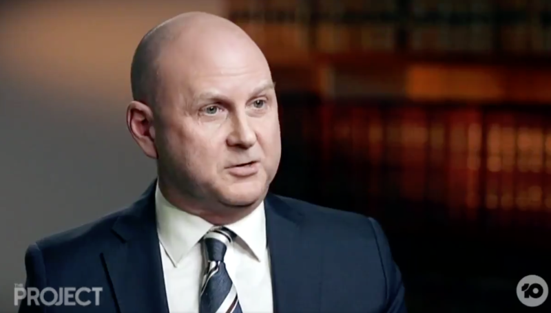 County Court Chief Judge Peter Kidd explained why he chose to broadcast Pell's sentencing in an interview on The Project. Source: The Project/ 10 Network